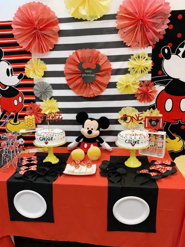 Mickey Mouse diy birthday decor