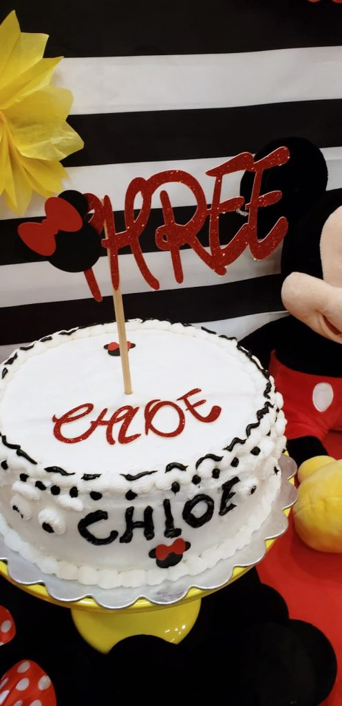 DIY Mickey Mouse cake topper
