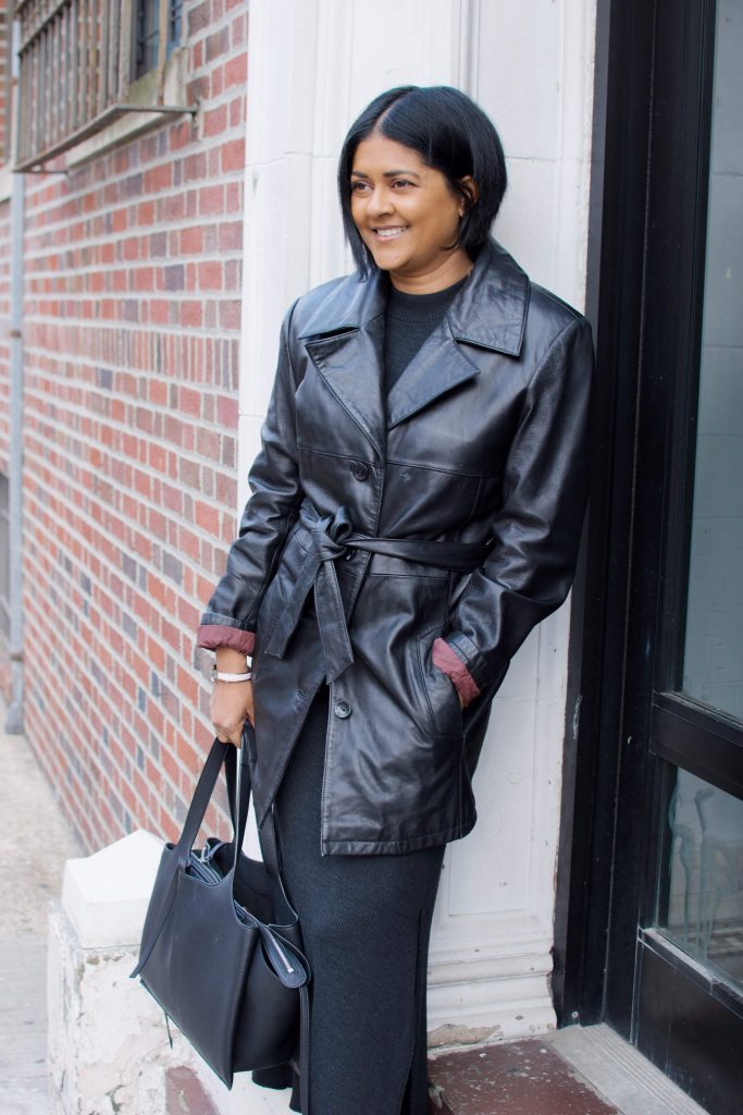 leather trench coat for winter