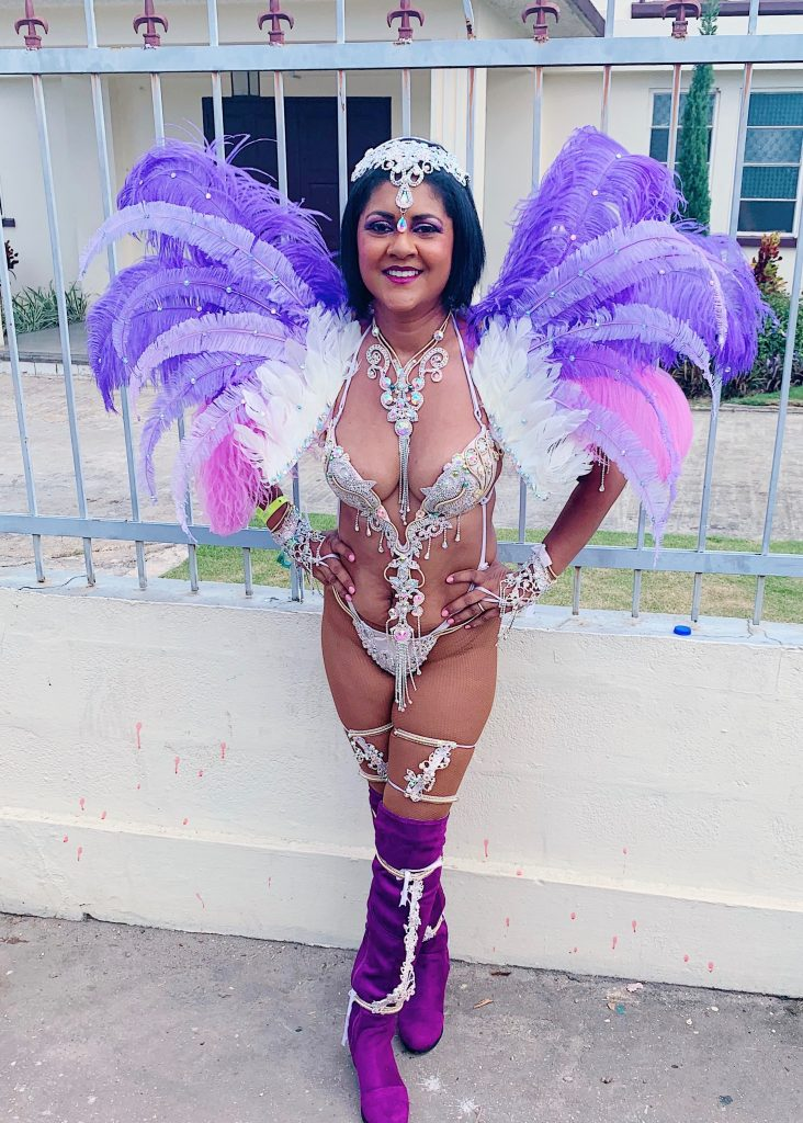 Trinidad Carnival Bliss Experience, Jasmine section, Chandra maharaja, Carnivalista, carnival kicks, Playing Mas in Trinidad, body positivity, mom bod, girl mom, Carnival costume